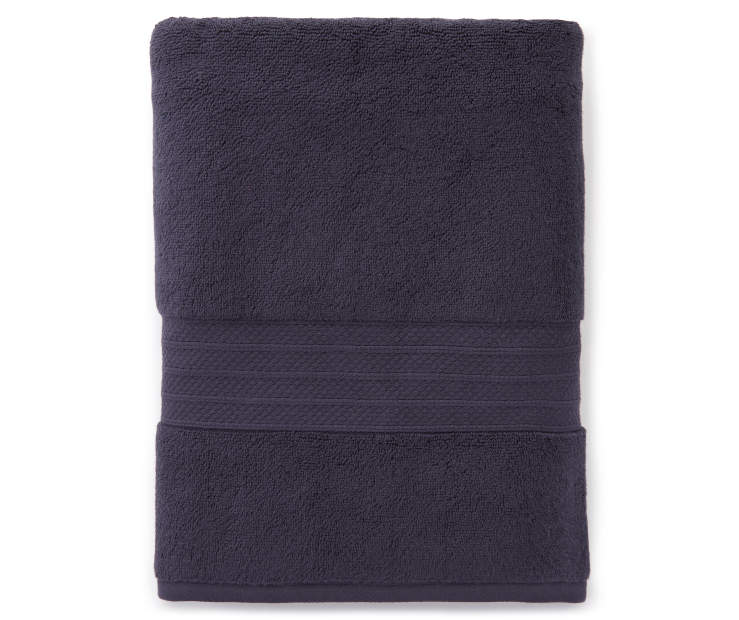 Hotel Blue Nights Hand Towel Silo Image Overhead View