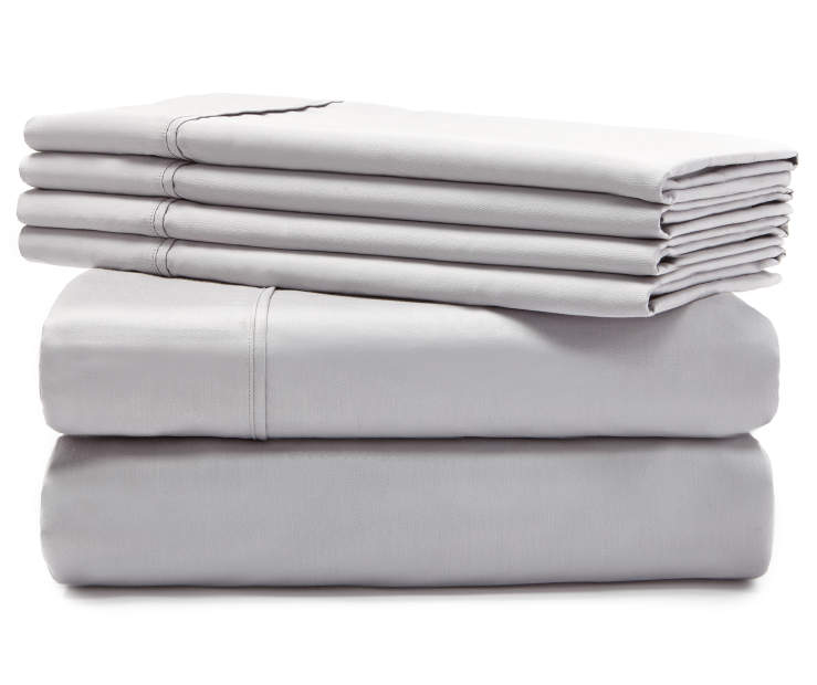 Hotel Mirage Gray 800 Thread Count 6-Piece Queen Sheet Set Silo Stack