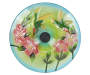 Hummingbird Solar Stained Glass Birdbath Top View Silo Image