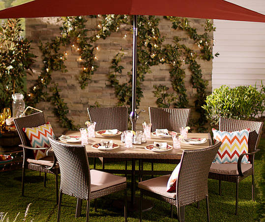 Wilson Fisher Hyde Park Resin Wicker 6 Piece Outdoor Dining Chair Set Big Lots