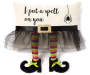 I Put A Spell On You Witches Boots Throw Pillow 13 inch x 18 inch silo front