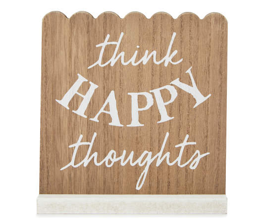 Think Happy Thoughts Scallop Plaque Big Lots