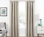 Illana Ecru Tan Trellis Blackout Single Curtain Panel 63 inches Lifestyle