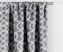 Illana Gray Trellis Blackout Single Curtain Panel 63 inches Cropped Lifestyle