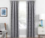 Illana Gray Trellis Blackout Single Curtain Panel 63 inches Lifestyle