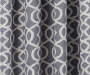 Illana Gray Trellis Blackout Single Curtain Panel 63 inches Swatch