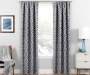 Illana Gray Trellis Blackout Single Curtain Panel 95 inches Lifestyle