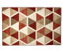 Illusions Red and Brown Accent Rug 2 Feet 6 Inches by 3 Feet 10 Inches Overhead View Silo Image