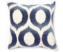 Indigo Olson Throw Pillow 18 Inches by 18 Inches Front View with Design Overhead View Silo Image