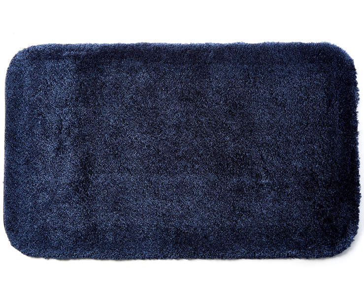 Ink Blue Bath Rug 20X34 Silo