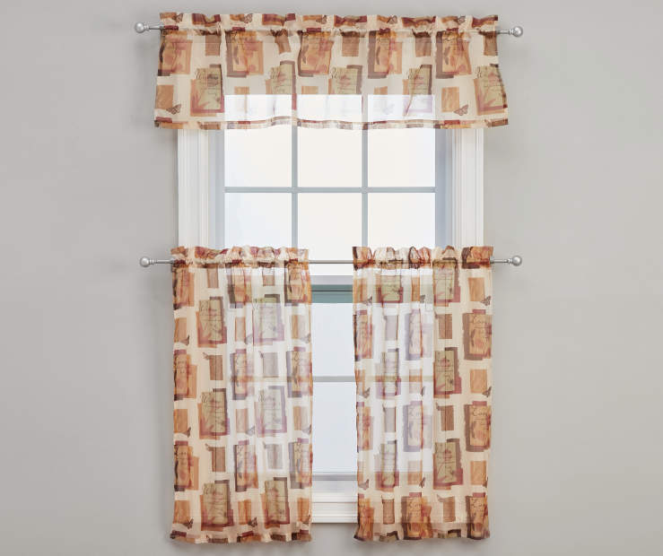 Inspire Tier and Valance Set 3-Piece On Window