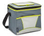 Insulated 9-Can Gray and Lime Cooler Tote