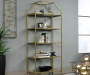 International Lux Satin Gold 5 Shelf Bookcase lifestyle