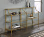 International Lux Satin Gold Console Table lifestyle