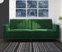 Irene Green Velvet Tufted Futon lifestyle living room