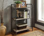 Itzel Oak and Sandy Gray 3 Shelf Bookcase Lifestyle