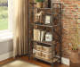 Itzel Oak and Sandy Gray 4 Shelf Bookcase Lifestyle