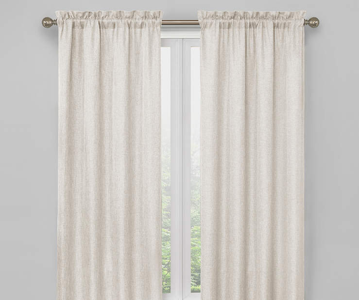 Ivory Bergen Blackout Curtain Panel Pair 63 Inches On Window Room Environment Lifestyle Image