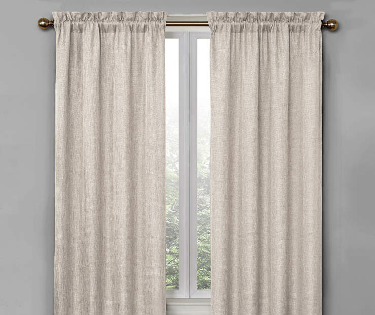 Ivory Bergen Blackout Curtain Panel Pair 84 Inches On Window Room Environment Lifestyle Image