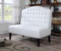 Ivory Upholstered Banquette Bench lifestyle