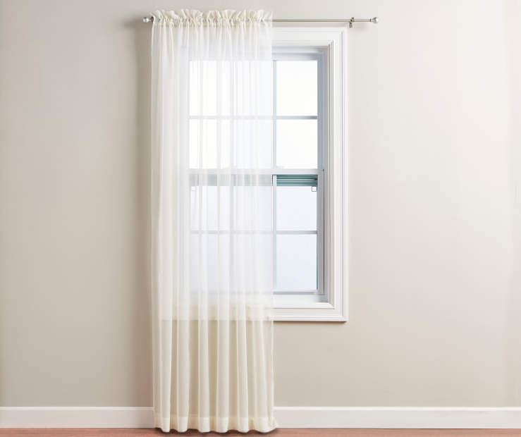 Ivory Voile Panel 84 Inches on Window Room View