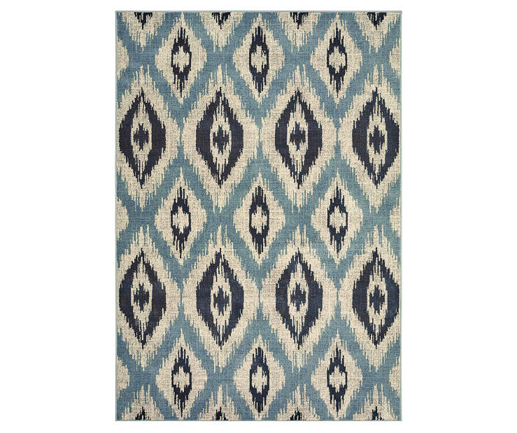 Izlar Blue Area Rug 3FT10IN x 5FT5IN Silo Image
