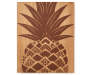 JE WOOD CARVED PLAQUE PINEAPPLE 11x14