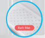 JH BATH MAT 14PC W/SHOWER CURTAIN CLEAR