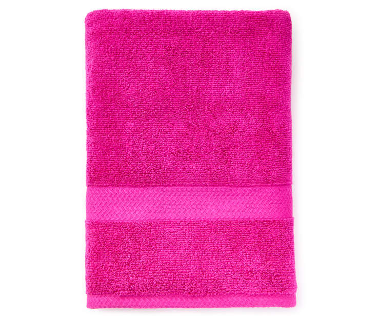 JH BATH TOWEL FUSCHIA RED