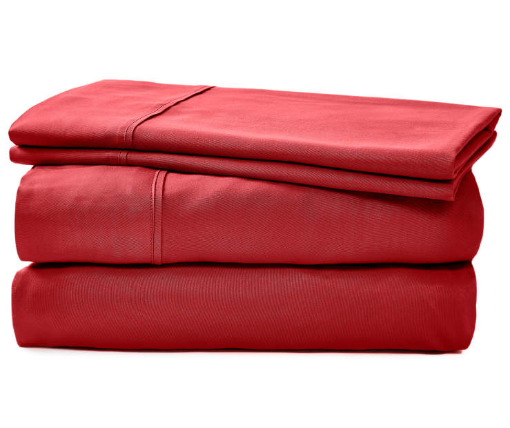 JH MICROFIBER SHEET KING RED