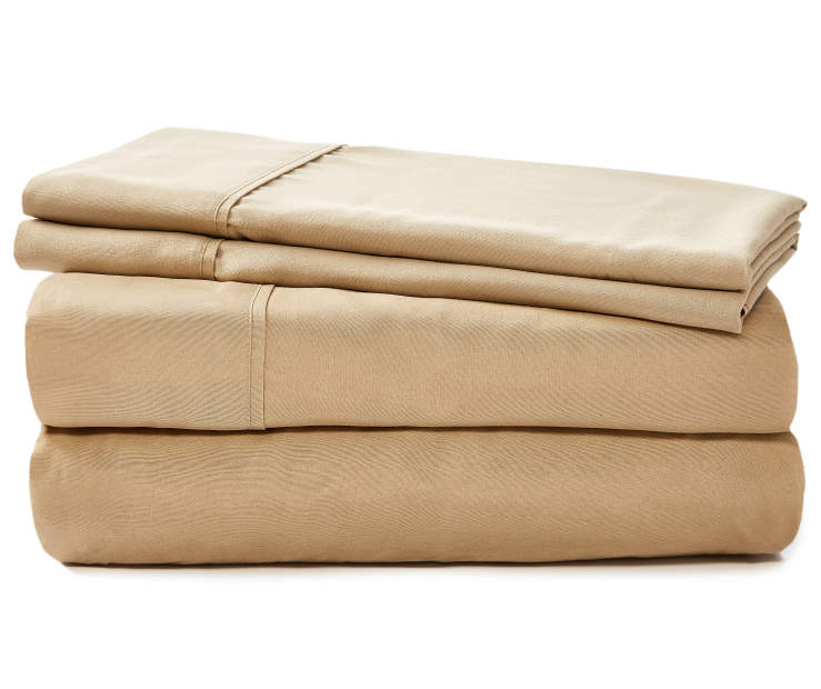 JH MICROFIBER SHEETS KING TAN