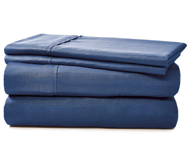 JH MICROFIBER SHEETS QUEEN NAVY