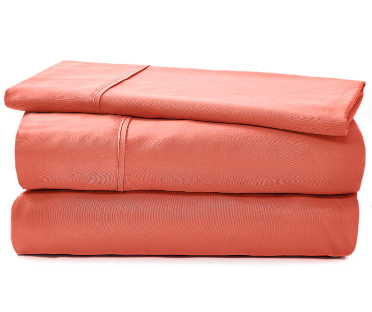 JH MICROFIBER SHEETS TWIN CORAL