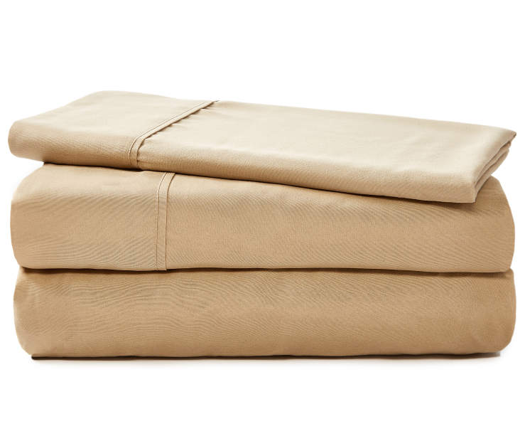 JH MICROFIBER SHEETS TWIN TAN