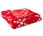 JH RED SNOWFLAKE THROW