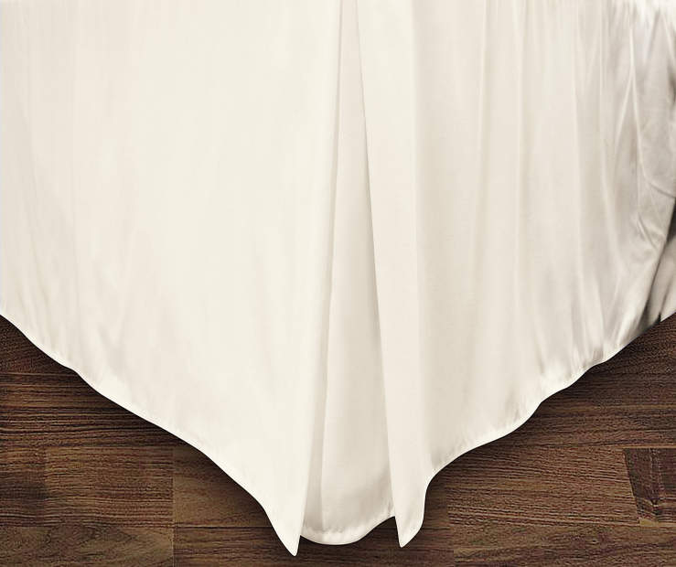 JUST HOME QN BEDSKIRT IVORY