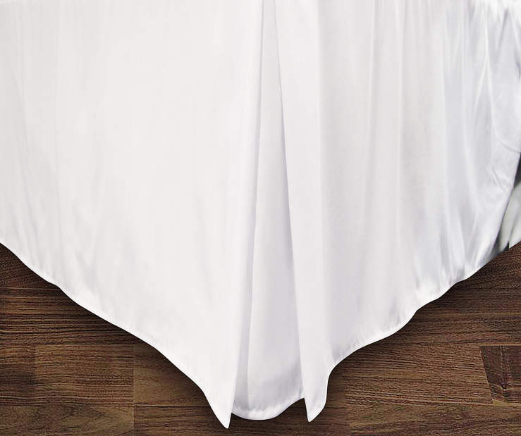 JUST HOME QN BEDSKIRT WHITE