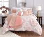 Jaiden Coral and Taupe Comforter and Quilt 10-Piece Set Room Setting 2