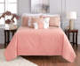 Jaiden Coral and Taupe Comforter and Quilt 10-Piece Set Room Setting 5