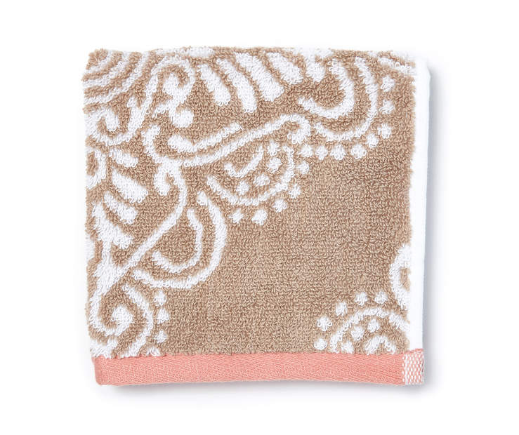 Jaiden Tan and Salmon Wash Cloth Silo