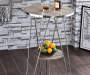 Jarvis Gray Oak and Chrome Bar Table Lifestyle