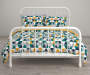 Jax Teal and Yellow Triangle Full 7 Piece Bedding Set lifestyle
