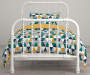 Jax Teal and Yellow Triangle Twin 5 Piece Bedding Set lifestyle