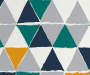 Jax Teal and Yellow Triangle Twin 5 Piece Bedding Set swatch