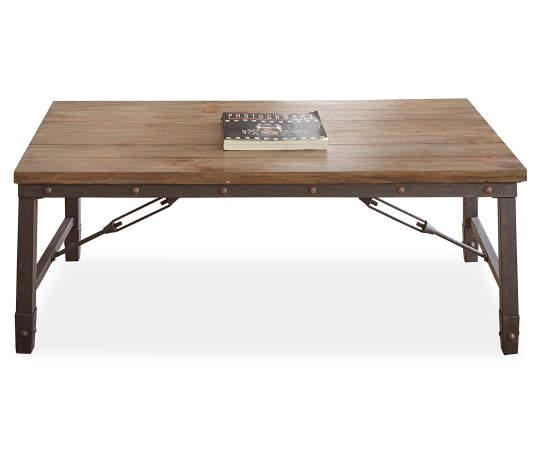 Ashford Wood Metal Coffee Table Big Lots
