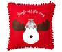 Jingle All The Way Reindeer Throw Pillow 17 inch x 17 inch silo front