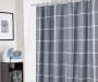 Jon Plaid Microfiber Shower Curtain 72 Inches On Shower Rod Bathroom Environment Lifestyle Image