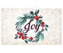 Joy Tan Wreath Outdoor Doormat 18 inch x 30 inch silo front