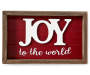 Joy to the World 3D Framed Plaque silo front