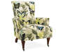 Jules Butterfly High Back Armchair silo angled